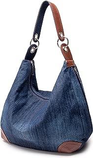 (TM) Women's Handbag Purse Hobo Tote Top Handle Shoulder Crossbody Bags Denim