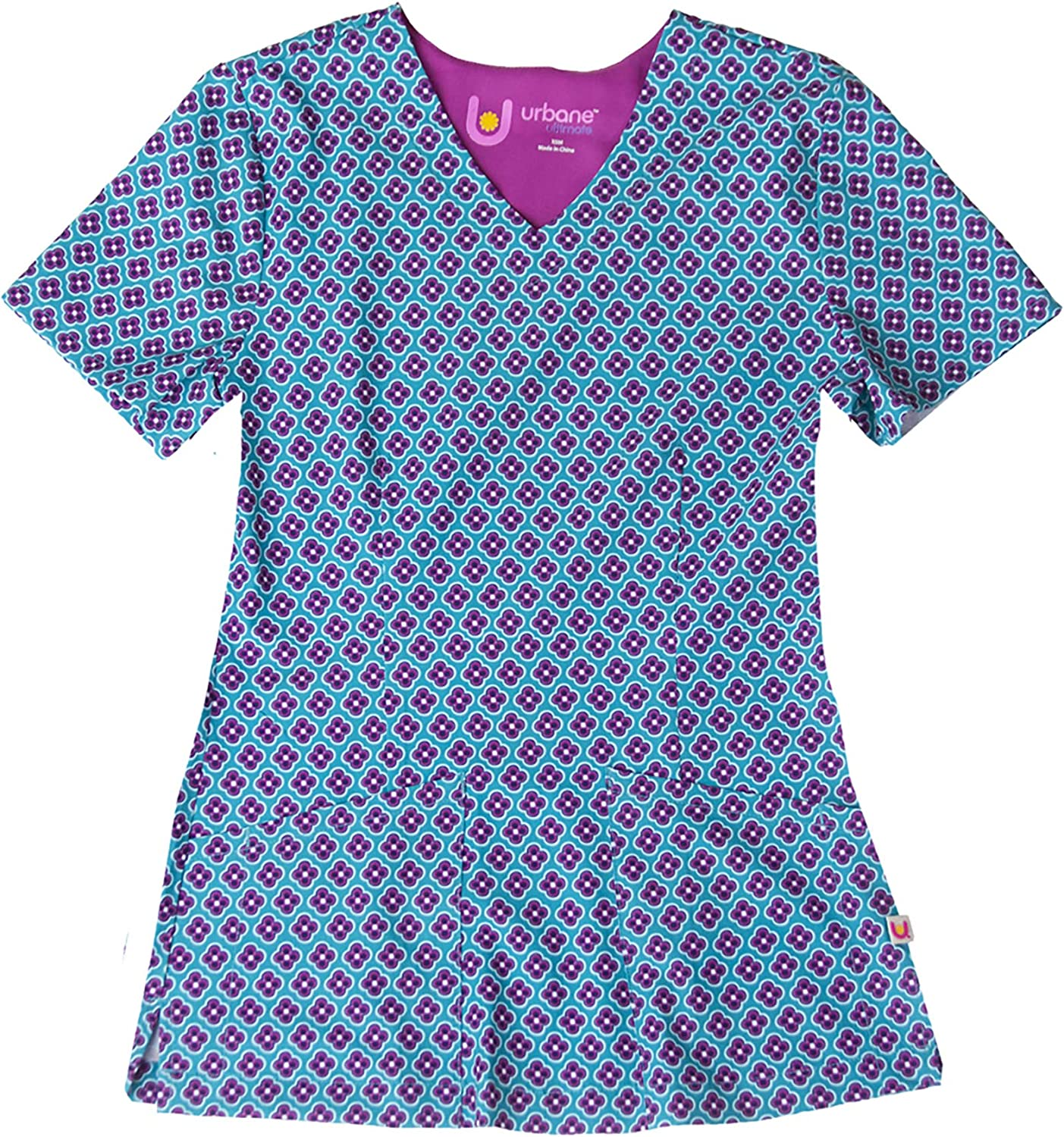 Urbane Women's V-Neck Stretch Scrub All items in the store Top Teal Round About OFFicial site M