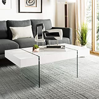 Best white and glass coffee table Reviews