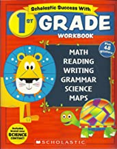 NEW 2018 Edition Scholastic - 1st Grade Workbook with Motivational Stickers