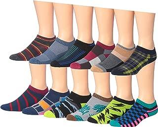 James Fiallo Men's 12 Pairs Low Cut Athletic Sport Peformance Socks