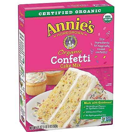 Annie's, Organic Confetti Cake Baking Mix, 21 oz