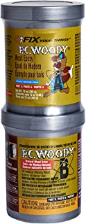 PC Products PC-Woody Wood Repair Epoxy Paste, Two-Part 12 oz in Two Cans, Tan 16333 (163337)