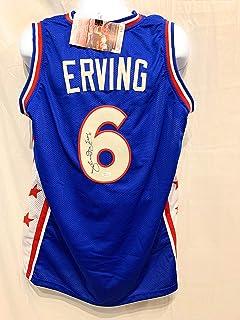 8362be30e Julius Erving Dr J Philadelphia 76ers Signed Autograph Blue Custom Jersey  JSA Witnessed Certified