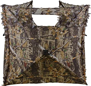 Auscamotek Pop Up Ground Blind for Deer Duck Turkey Hunting Portable Quick Setup Lightweight Green/Brown/Dry Grass Ground Peg Included