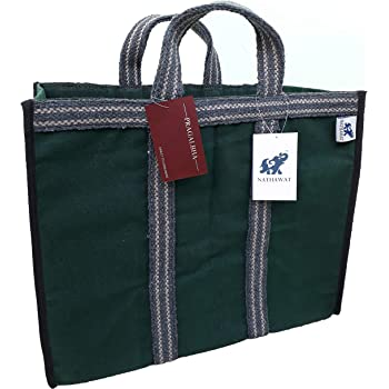 NATHAWAT Shopping Bag Heavy Duty Sturdy Canvas Tote for Vegetable and Grocery Reusable (18 x 8 x 14 - inches) Pack of 1