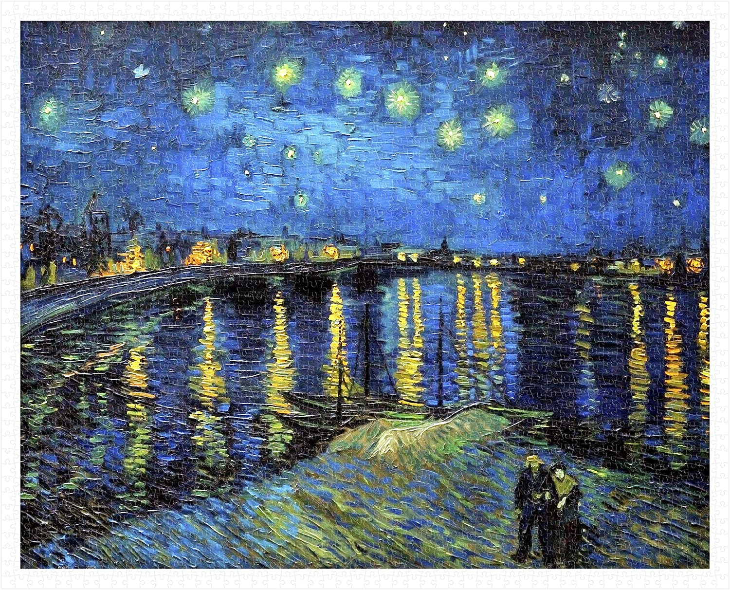 Pintoo  H1761  Vincent Van Gogh  Starry Night Over The Rhone, 1888  2000 Piece Plastic Puzzle