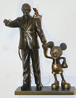 Disney World WDW Park 2015 Partners Statue Mickey Walt Holding Hands Christmas Ornament