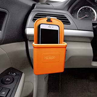 FH Group FH3022ORANGE Orange Silicone Car Vent Mounted Phone Holder (Smartphone works with IPhone Plus Galaxy Note Orange Color)