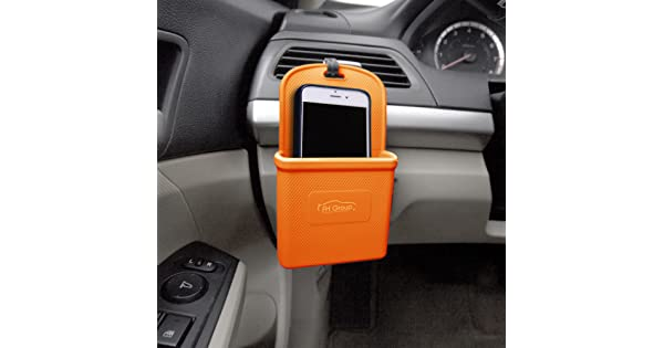 FH Group FH3022ORANGE Orange Silicone Car Vent Mounted Phone Holder Smartphone works with IPhone Plus Galaxy Note Orange Color