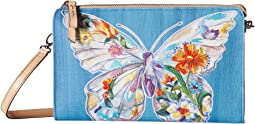 Belle Jardin Flutter Embroidered Pouch