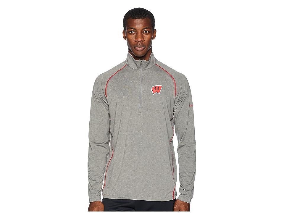Columbia Collegiate Tuk Mountaintm 1/2 Zip Shirt (Wisconsin/Boulder/Intense Red) Men