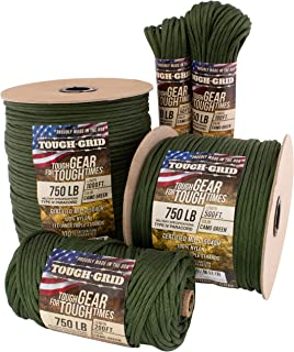 TOUGH-GRID 750lb Paracord/Parachute Cord - Genuine Mil Spec Type IV 750lb Paracord Used by The US Military (MIl-C-5040-H) ...