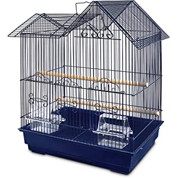 You & Me Parakeet Ranch House Cage, Navy