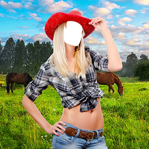 Cowgirl-Foto-Montage