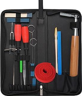 Piano Tuning Kit Professional Piano Tuner Kit by Wadoy, Professional 16 Piece Kit Including Tuning Fork, Tuning Wrench, Tu...