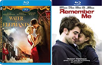 Robert Pattinson Romantic Double Feature - Water for Elephants & Remember Me 2-Movie Blu-ray Bundle