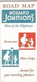 Howard Johnson's Restaurant Road Map circa 1960
