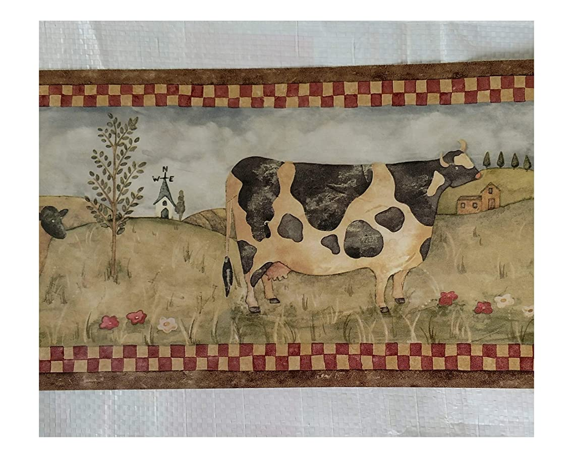 Farm Country Kitchen Cows Pigs Sheep Wallpaper Border