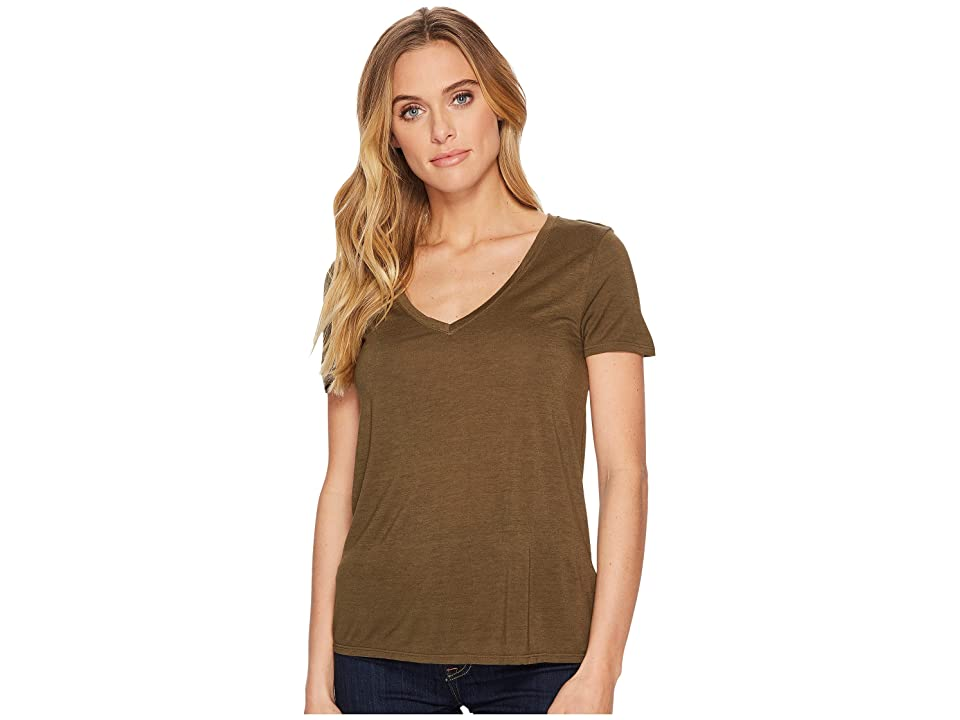 Three Dots Vintage Jersey V-Neck Tee (Nicoise) Women