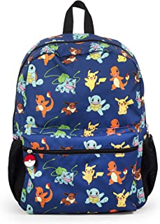"Pokemon Pikachu and Characters Gotta Catch Em All 16"" Backpack School Bag"