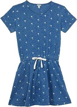 Palm Ditsy Print Dress (Big Kids)