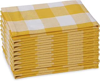 Set of 6 Yellow-Grey Chevron Print,Mother/'s Day Gift Classic Napkins 16x16\u201d,Gift N136A Dinner Napkins,Lunch Napkins Cloth Napkins