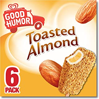 Good Humor Ice Cream & Frozen Desserts Bar, Toasted Almond 6 Count