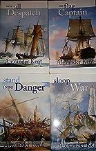 Richard Bolitho novels (set of 4 books) (written under the name Alexander Kent) Flag Captain, Sloop Of War, Stand Into Danger,With All Despatch. (2,4,8,11)