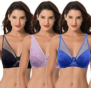 Curve Muse Women's Plus Size Minimizer Unlined Underwire Full Coverage Bra