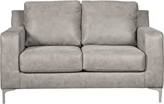 Ashley Furniture Signature Design - Ryler Contemporary Upholstered Loveseat - Steel