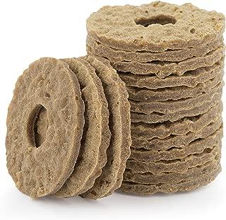 PetSafe Sportsmen Natural Rawhide Treat Refill Rings, Replacement Treats for PetSafe Sportsmen Treat Ring Holding Toys