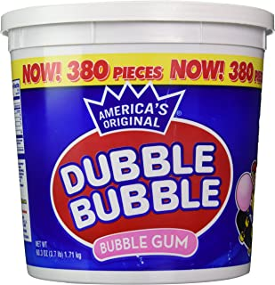 Dubble Bubble Tub, Original Flavor, 380-Count, 60.3 Oz(3.7 lb)