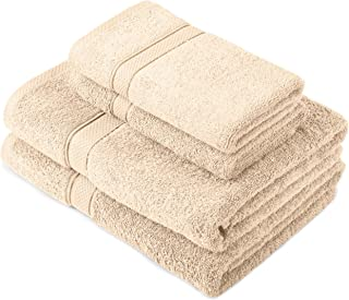 Pinzon by Amazon - Egyptian Cotton Towel Set, 2 Bath and 2 Hand Towels - Cream, 600gsm