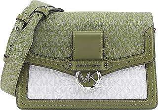 Michael Kors Women's Jessie Medium Two-Tone Logo Shoulder Bag in Oregano Multi, Style 30S0SI6L2V.