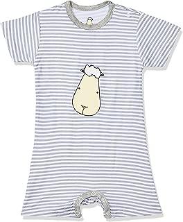 Baa Baa Sheepz Romper Short Sleeve, Grey, 0-6M