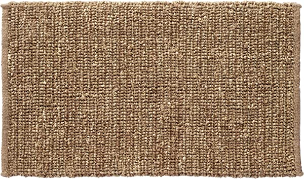 HF By LT Boho Market Sophia Braided Seagrass And Jute Doormat 18 X 30 Inches Durable And Sustainable Handwoven Seagrass And Jute Static Free Stain Resistant Beige