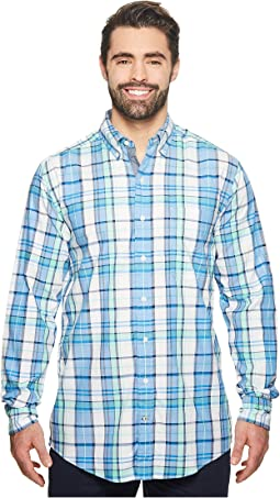 Big & Tall Long Sleeve Plaid Shirt