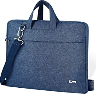 """Voova Laptop Shoulder Bag,Slim Portable Sleeve Carrying Case with Strap Compatible with 17 17.3 Inch Computer/Notebook/MacBook Pro 17"""" / New Razer Blade Pro 17 / Asus Acer Hp for Men Women, Blue"""