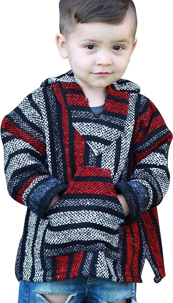 Children/'s Classic Baja Hoodie Pullover Kids/' Medium