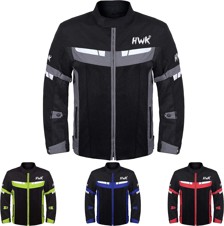 HWK Mesh Motorcycle Jacket Riding Max 69% OFF Motorbike CE Biker Air Bombing new work