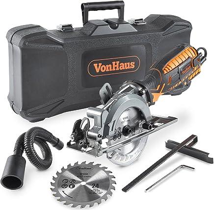 VonHaus Sierra Circular Compacta de 705W - 3,500 rpm con Puerto de Polvo + Estuche de Almacenamiento Resistente