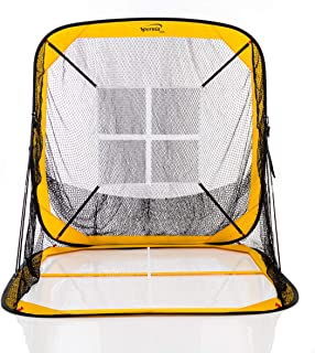 Spornia Baseball/Softball Practice Net 7 x 7 with Ball Return Pitching Target | Practice Hitting, Pitching, Batting and Catching | Ultra Portable and Lightweight