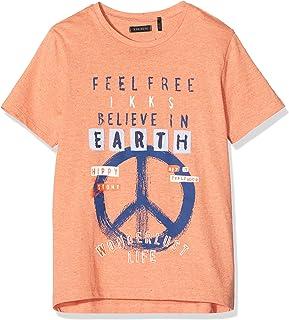 IKKS Junior tee-Shirt Believe In Earth Terracota Camiseta para Niños