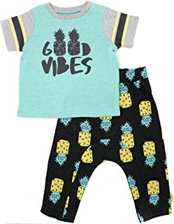 Baby Boys' Good Vibes Pineapple T-Shirt & Pant Set