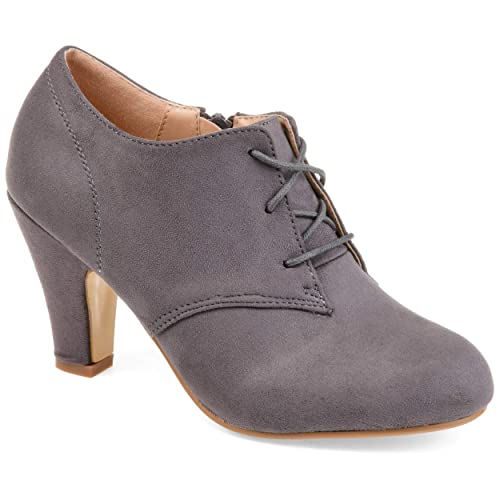 Journee Collection Womens Vintage Round Toe Lace-up Booties