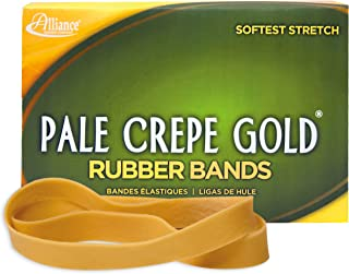 Alliance Rubber 21055 Pale Crepe Gold Rubber Bands Size #105, 1 lb Box Contains Approx. 95 Bands (5