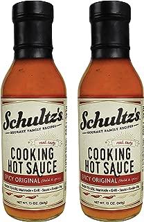 Schultz's Gourmet Cooking Hot Sauce, 13 oz (Pack of 2) (Spicy Original)