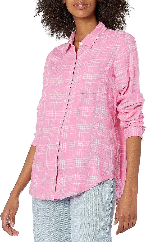 Lucky Brand Women's Pink Classic One Pocket Plaid Shirt