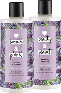 Love Beauty And Planet Relaxing Rain Body Wash, Argan Oil & Lavender, 16 oz, 2 ct